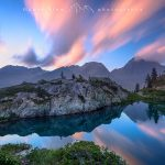 Il Lago di Valcuca al tramonto