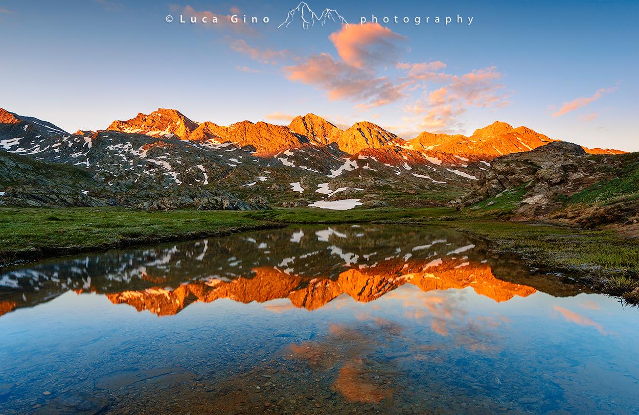 Il Lago Bes all'Alba