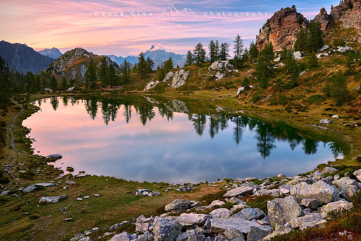 Il Lago Nero al tramonto, Valle Maira