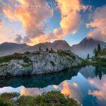 Il lago di Valcuca al tramonto, Valle Gesso