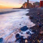Spiaggia-Camogli-sassi-tramonto