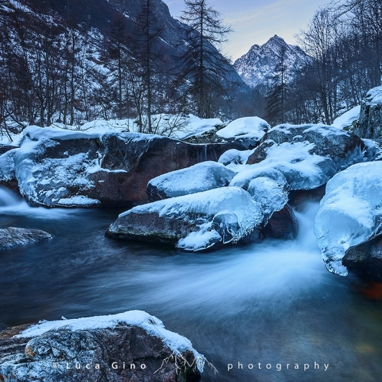 Il Torrente Gesso in Inverno