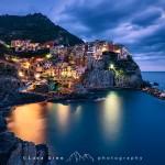 Cala la notte a Manarola, Cinque Terre, Liguria