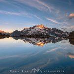 Il Monte Gelas riflesso nel Lago al Colle di Fenestrelle, Valle Gesso