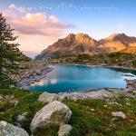 Lago di Sant'anna di Vinadio al Tramonto
