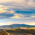Il Podere Terrapille all'alba, Val d'Orcia