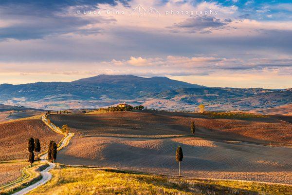 il Podere Terrapille in autunno, Pienza, val d'Orcia, Italia