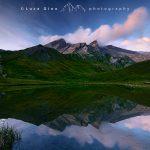 Il Lago del Pic d'Asti al tramonto