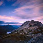 La_Taillante-ed-il-Lago-Foreant-Colle-dell-Agnello-tramonto