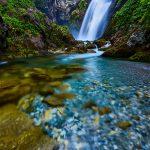 La cascata di Gias Fontana in alta valle Pesio