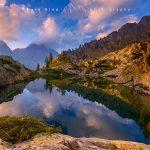 Il Monte Matto riflesso nel lago di Valcuca, valle Gesso