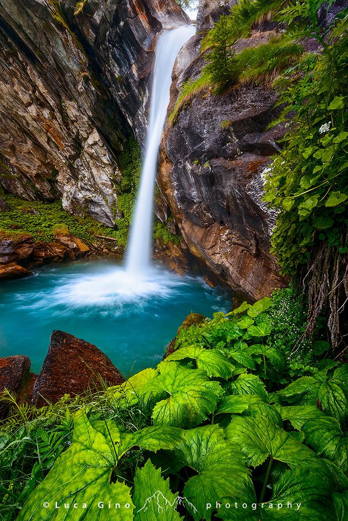 La cascata del Pis del Passet, Canosio, Valle Maira