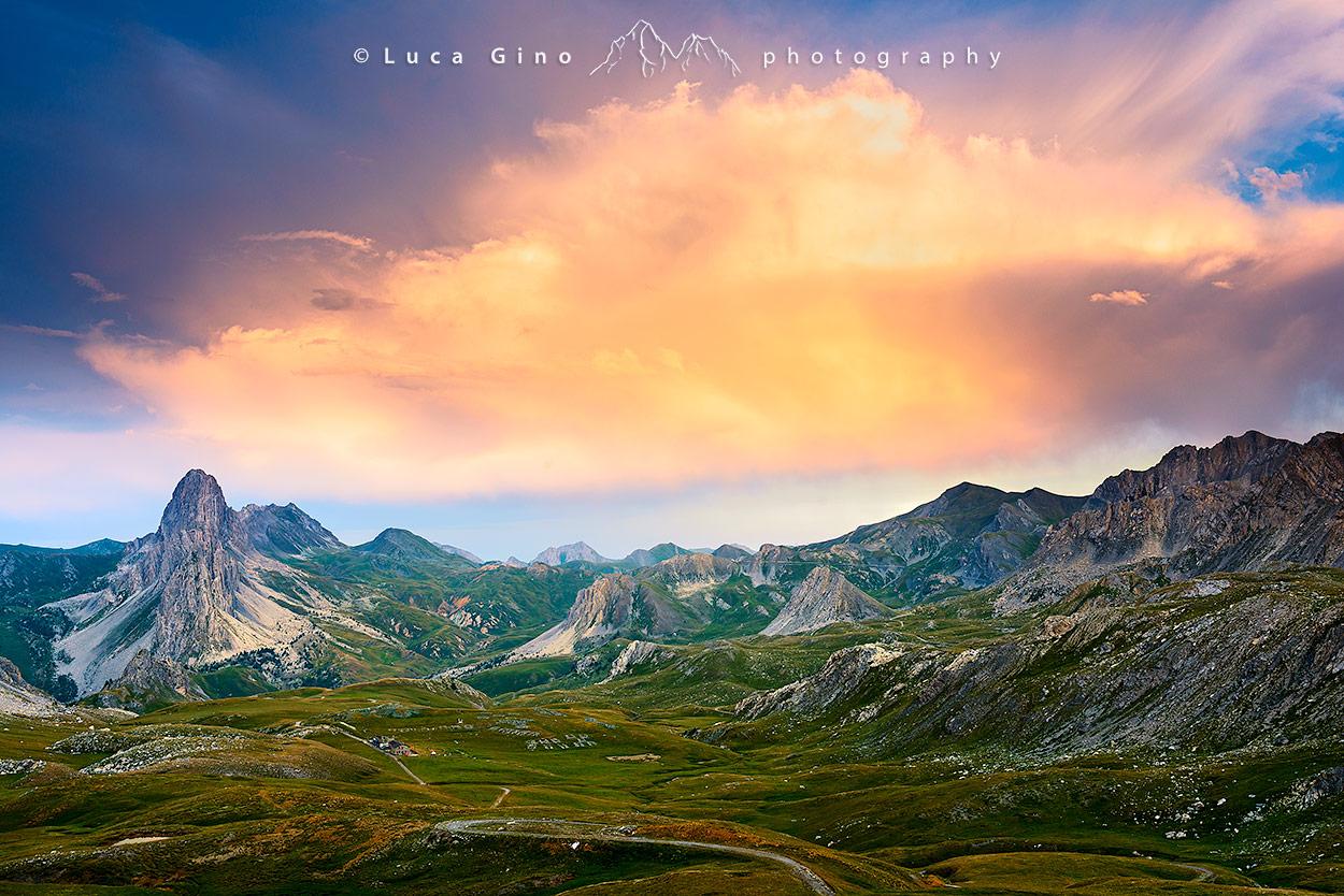 Altopiano della Gardetta al tramonto, Canosio, alta Valle Maira