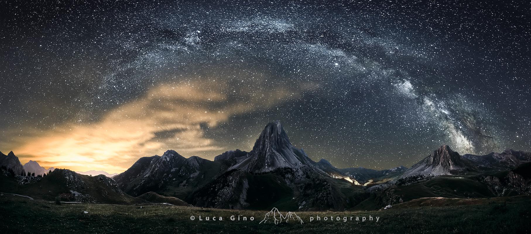 rocca-la meja, l'arco galattico dalla Gardetta