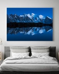 l Monte Bianco all'ora blu