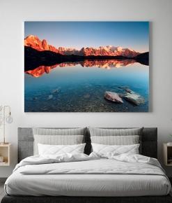 Il Lago Chêresys ed il Monte Bianco