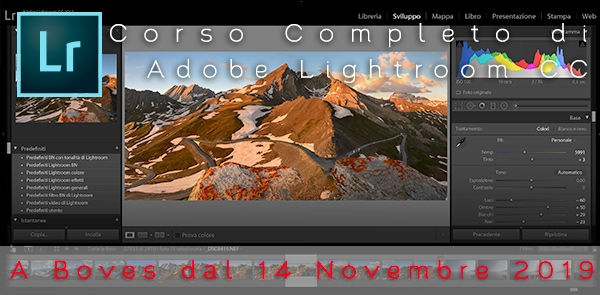 Corso di Adobe Lightroom CC Boves