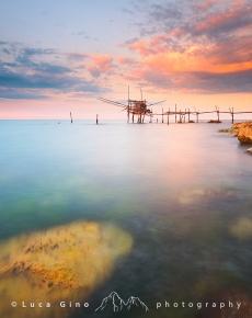 Il trabucco Turchino al tramonto