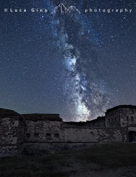 Il Forte Centrale e la Via Lattea
