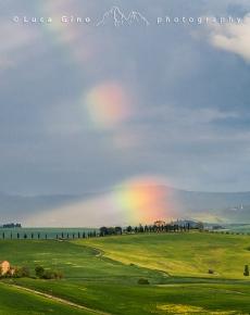Arcobaleno sulle colline Toscane