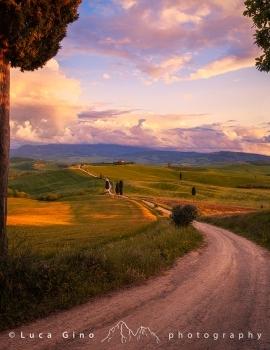 La strada del Gladiatore al tramonto