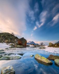 Fine dell'inverno al lago di Sant'Anna