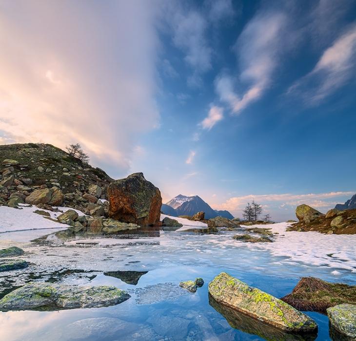 I Laghi di Sant'Anna di Vinadio in disgelo