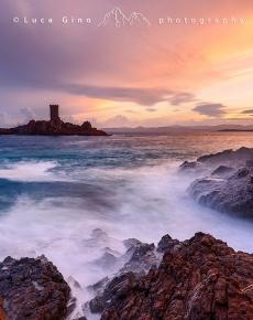 Capo Dramont e l'Ile d'Or al tramonto