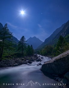 La Luna ed il torrente Gesso