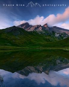 Il lago del Pic d'Asti
