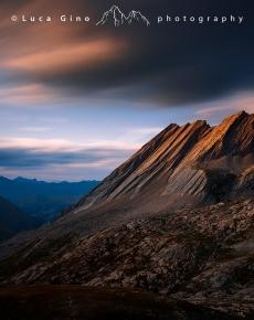 Tramonto sulla Cresta della Taillante
