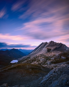 La Cresta Della Taillante al Tramonto