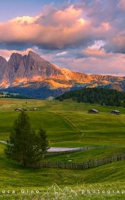 L'Alpe di Siusi al Tramonto