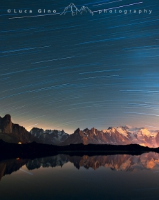 l Monte Bianco e i vortici di stelle
