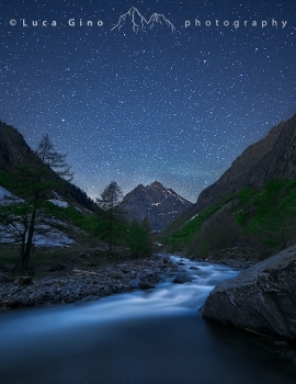 River and stars