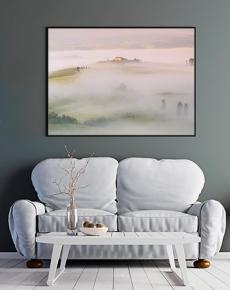 La nebbia avvolge il Podere Terrapille