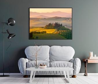 La luce dell'alba sul Podere Belvedere