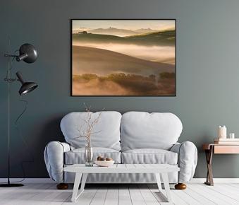 Le colline e le nebbie della Val d'Orcia