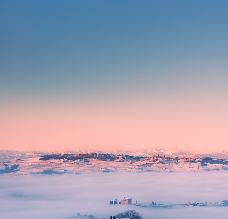 Grinzane in inverno