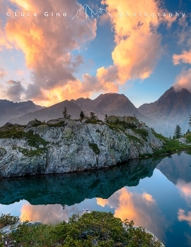 Tramonto al lago di Valcuca