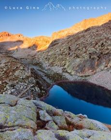 Il lago Madiano di Fremamorta all'alba