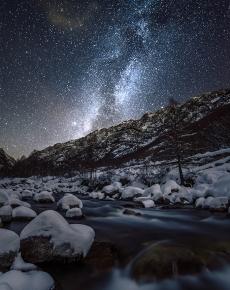 Il torrente Gesso e la Via Lattea