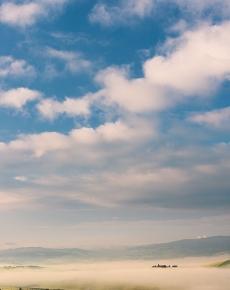 Nuvole sulla Val d'Orcia