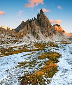 Monte Paterno al tramonto
