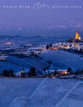 Paesaggio invernale a Serralunga d'Alba