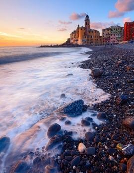 La spiaggia di Camogli