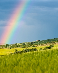 Arcobaleno in Val d'Orcia
